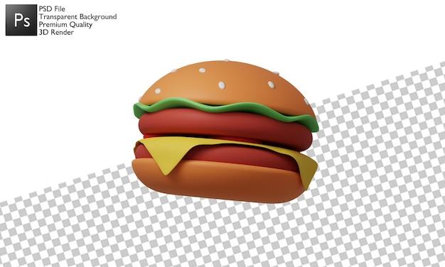 3dハンバーガーイラストデザイン