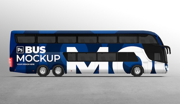 3d макет автобуса для брендинга и рекламных презентаций