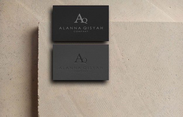 3d business card logo mockup for business company