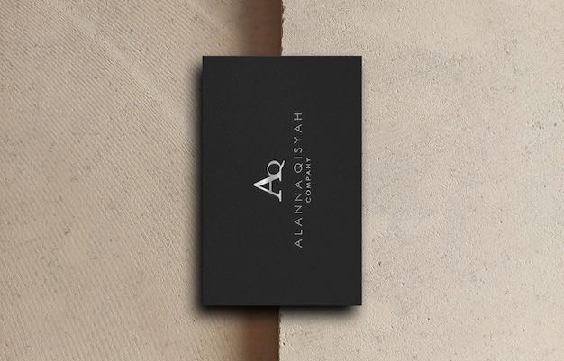 3d макет логотипа визитной карточки для деловой компании