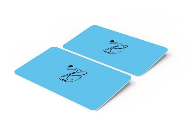 3d макет визитной карточки