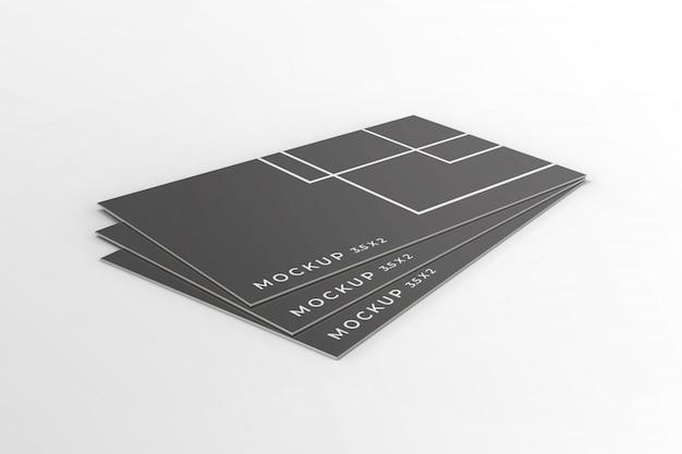 3d business card mockup