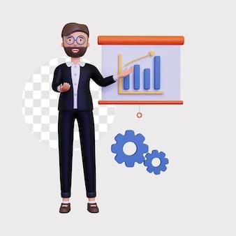 Иллюстрация концепции бизнес-презентации 3d