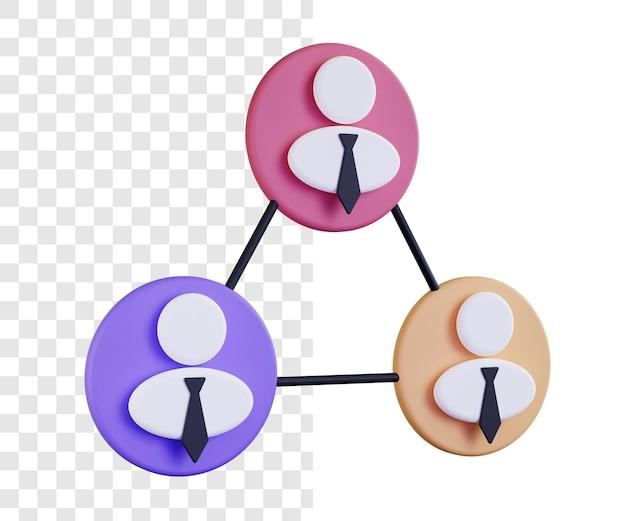 3d 비즈니스 팀 그림 개념