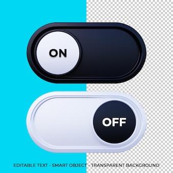 3dボタン電源アイコン分離3dレンダリング