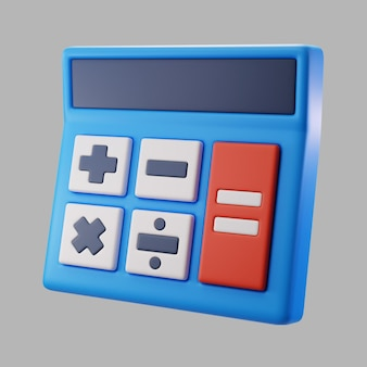3d calculator with buttons