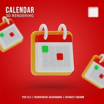 3d визуализация значка календаря