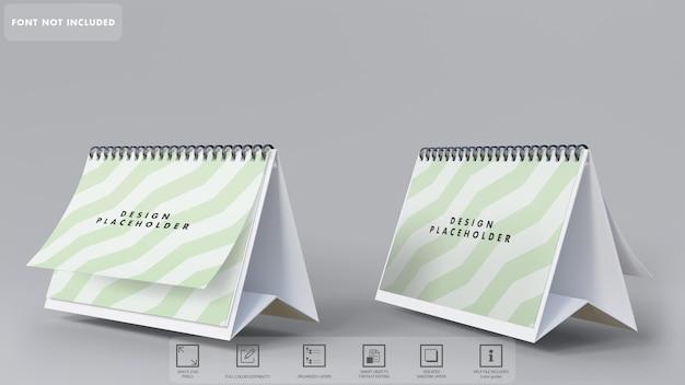 分離された 3 d カレンダー モックアップ レンダリング