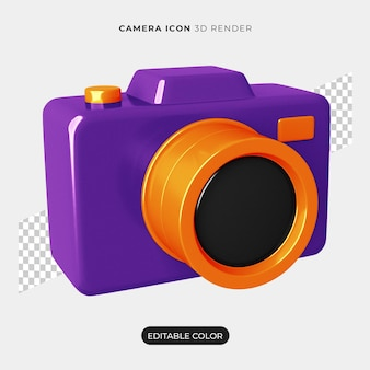 3d camera icon isolated