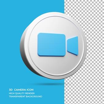 分離された3dカメラのロゴのレンダリング