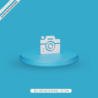 3d camera render icon isolated