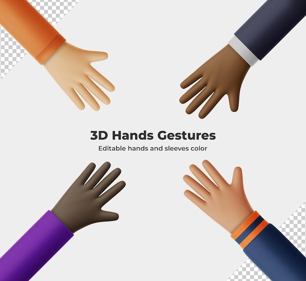 3d визуализация жестов руки