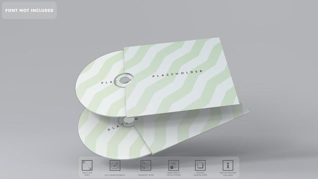 分離された 3 d cd モックアップ レンダリング