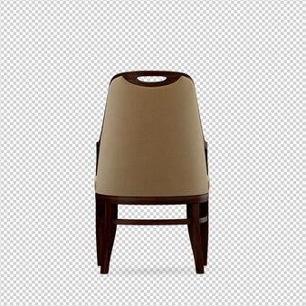 3d стул изолированные рендеринг