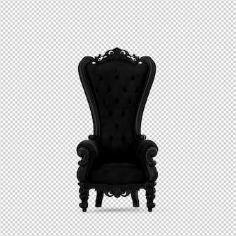 3d стул изолированные рендеринг Premium Psd