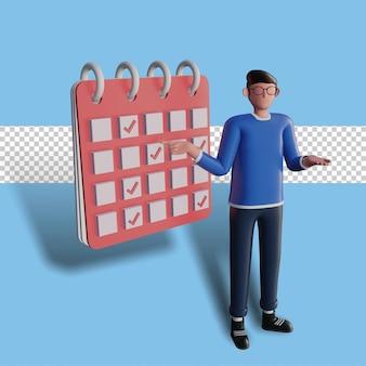 3d文字イラスト時間管理の概念
