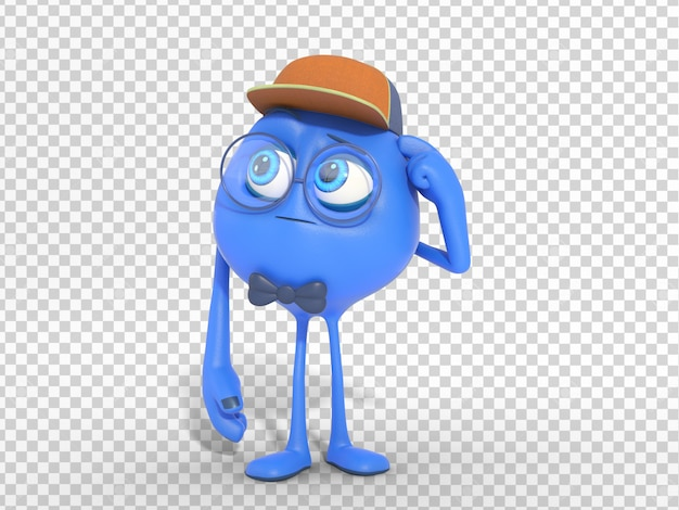 3d character mascot illustration