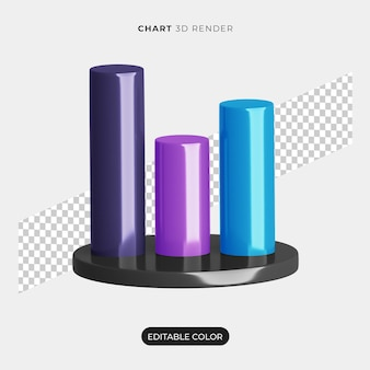 3d chart infographic icon mockup isolated