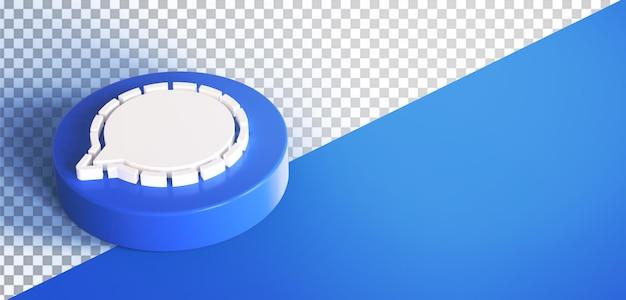 3d 채팅 원 아이콘 버튼 아이콘 절연