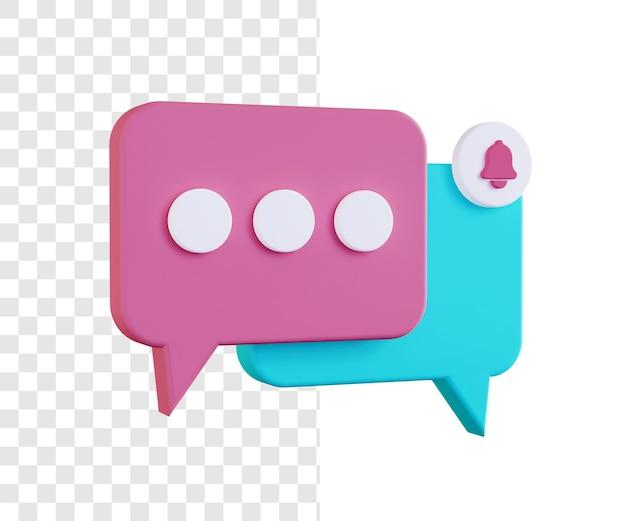 3d chat illustration concept