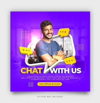 3d chat instagram social media template