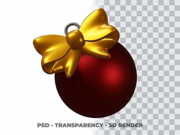 透明な背景を持つ3dクリスマスボール