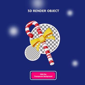 3d визуализации объекта ленты конфеты рождество