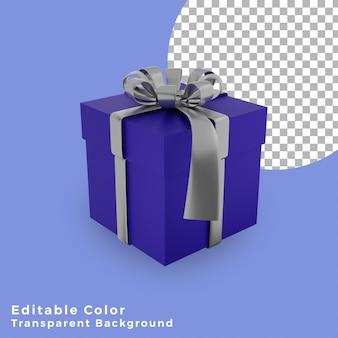 실버 활 고품질 3d 크리스마스 선물 상자 블루