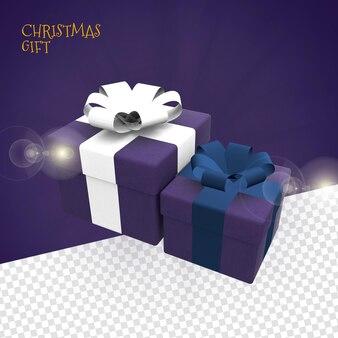 3d рождественский подарок для премиальной композиции psd