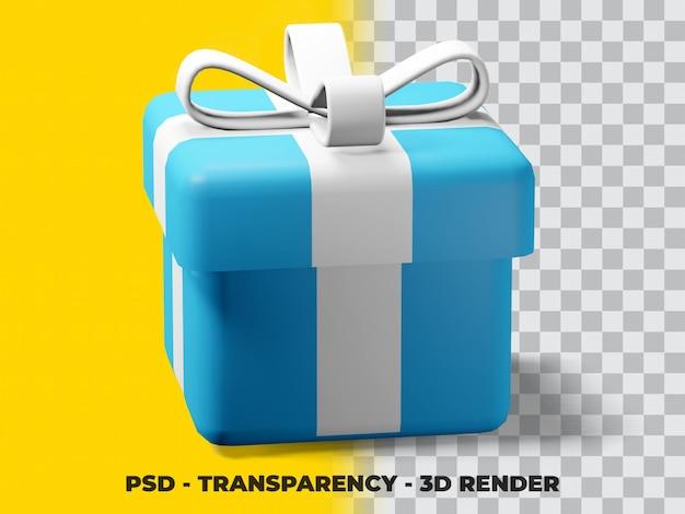 투명 배경이 있는 3d 크리스마스 선물
