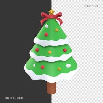 3d рождественская сосна на прозрачном фоне