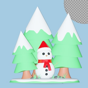 分離された3dクリスマスレンダリングデザイン