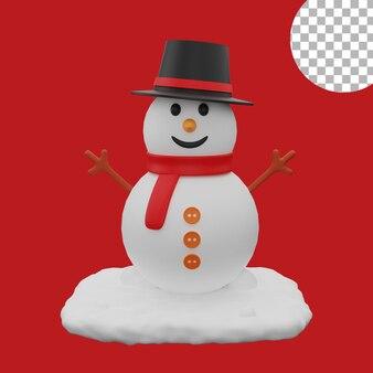3d рождественский снеговик значок активы изолированных иллюстрация высокое качество