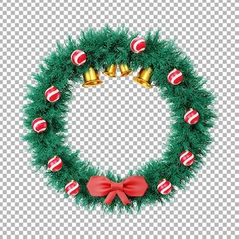 3dクリスマスリースのイラスト
