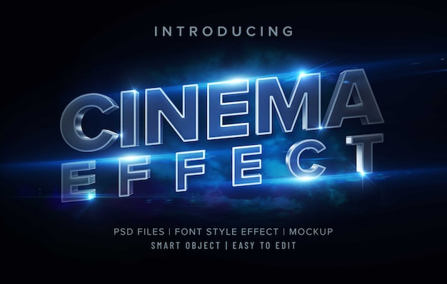 3d cinema font style effect template