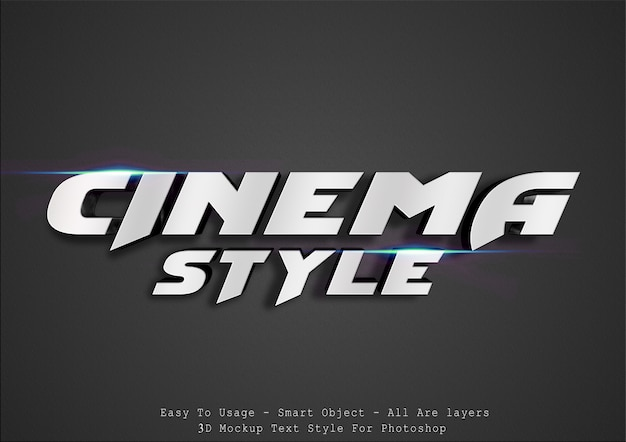 3d cinematic text style