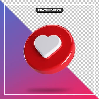 3d circle glossy like instagram icon isolated