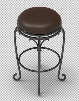 3d classic stool isolated.