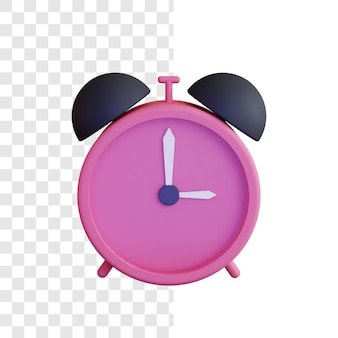 3d clock illustration concept with simple style
