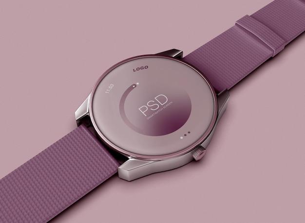 3d smartwatch 모형의 보기를 닫습니다. 기술 개념