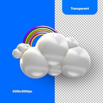 3d 구름 무지개 렌더링