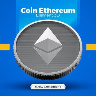 3d монета ethereum eth дизайн