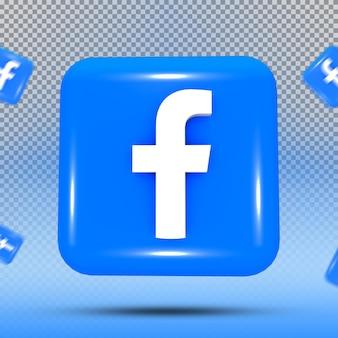 소셜 미디어 아이콘 템플릿의 3d 컬렉션 facebook