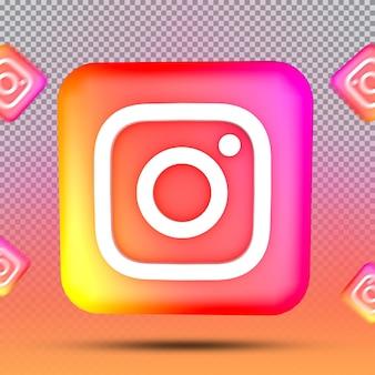 소셜 미디어 아이콘 템플릿 인스타그램의 3d 컬렉션