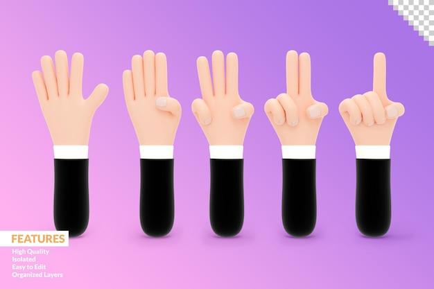 손으로 3d 컬렉션