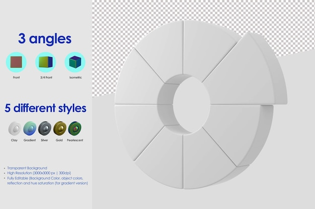 3d color wheel icon