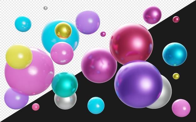 3d красочный шар или сфера или воздушный шар фон изолированные