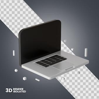 고립 된 3d 컴퓨터 아이콘