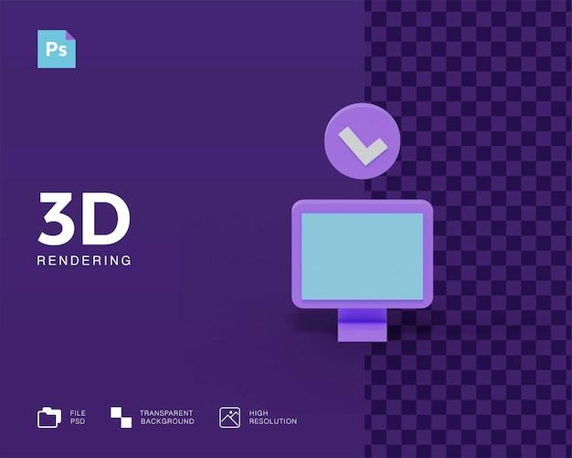 3d визуализация компьютерных иконок изолированы