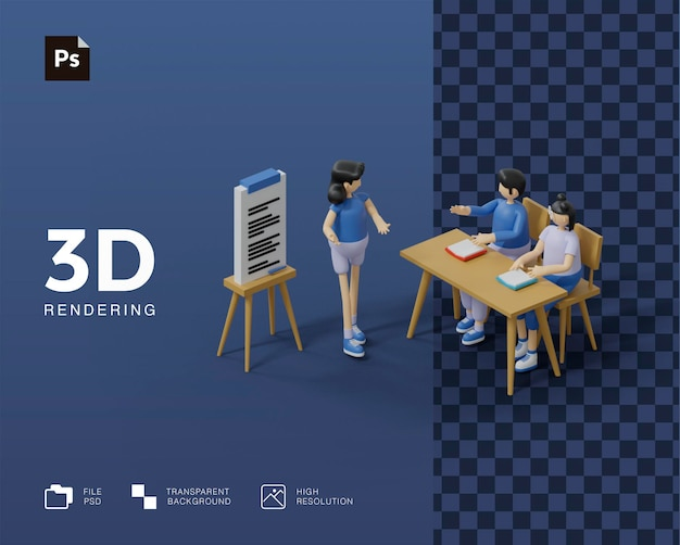3d конференция бизнес-обучение обучение иллюстрации
